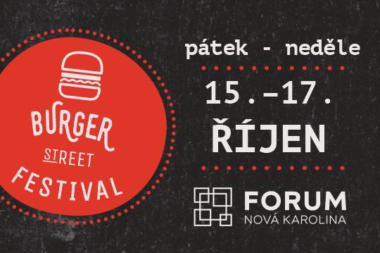 burger street festival 15.-17.10.2021 U Karoliny Ostrava
