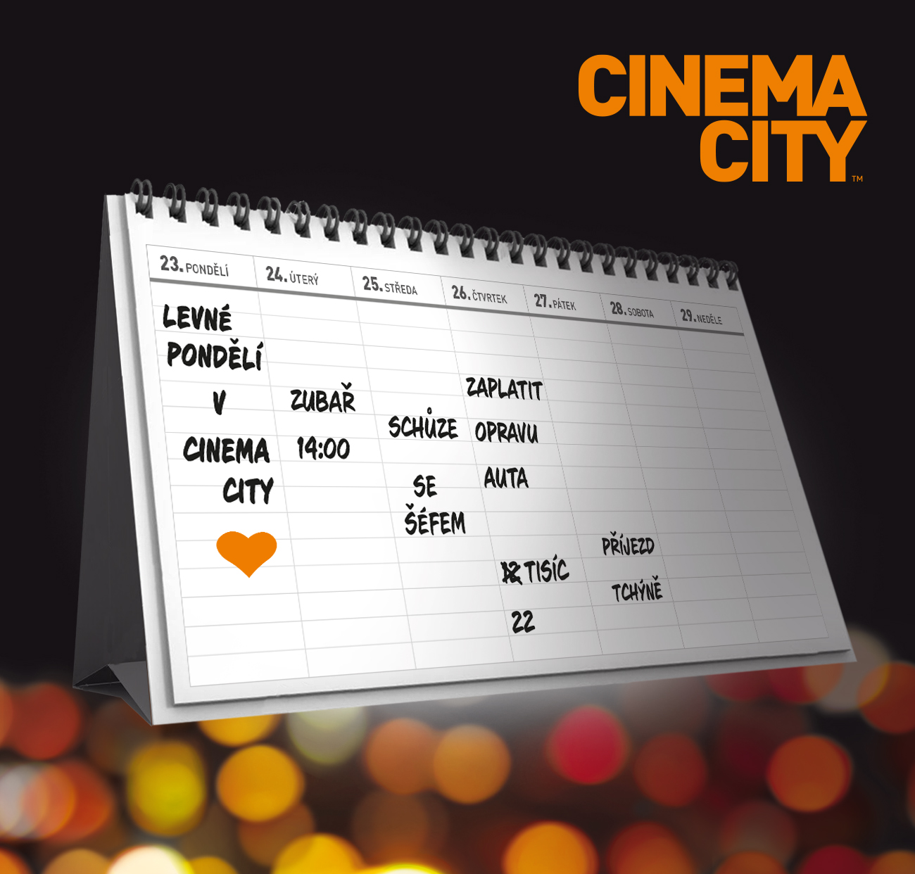 Cinema City Levné pondělí